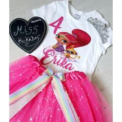 conjunto shimmer y shine rosa