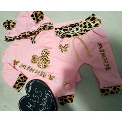 Conjunto minnie leopardo