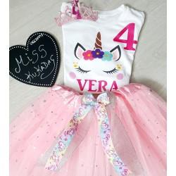 Conjunto unicornio rosa