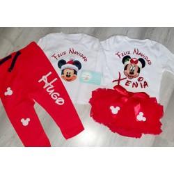 Conjunto navidad rojo minnie